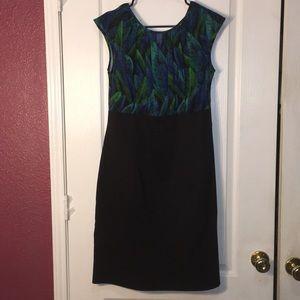 AB Studio sleeveless tropical printed dress